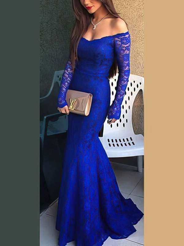 Mermaid Off-the-shoulder Lace Prom Dress