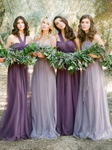 Amazing Tulle Sweep Train with Ruffles Halter Bridesmaid Dresses #UKM01012819