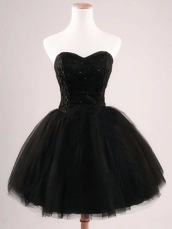 Elegant Ball Gown Tulle Sequins Prom Dresses