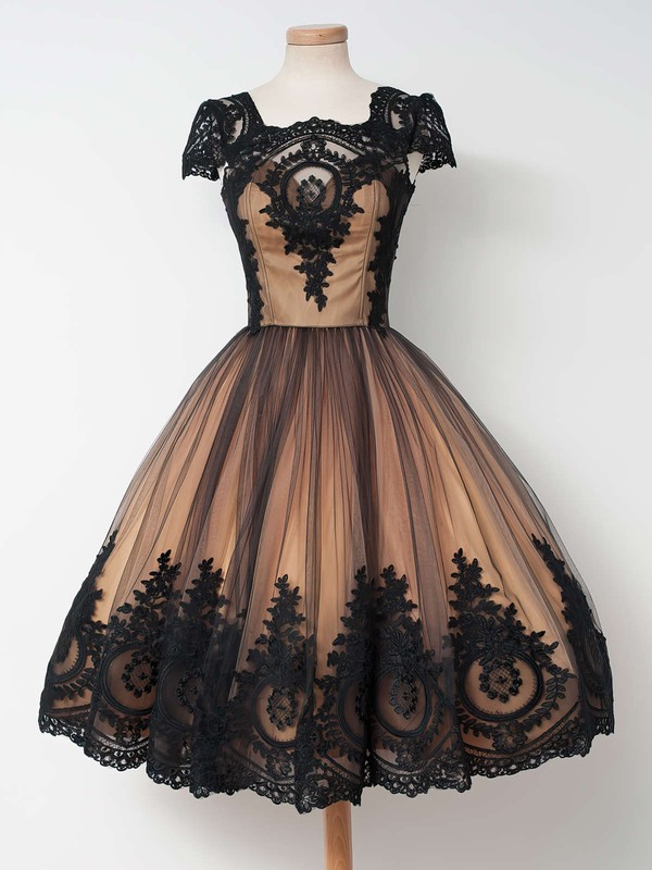 Vintage Ball Gown Tulle Dress for Prom