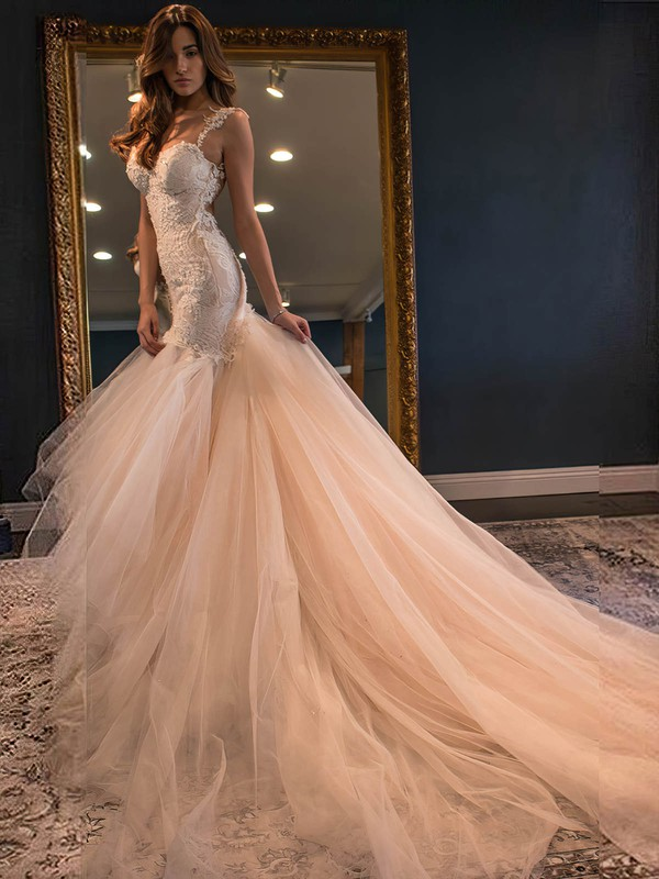 Mermaid Sweetheart Tulle Dresses for Bridal
