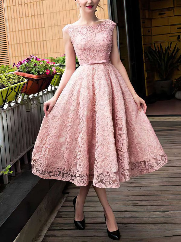 Short Lace Princess Prom Dresses