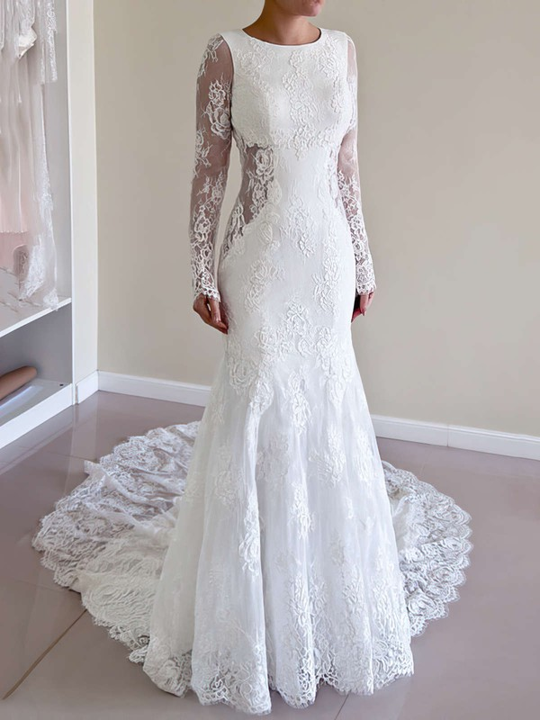 Mermaid Lace Long Sleeve Amazing Bridal Dresses