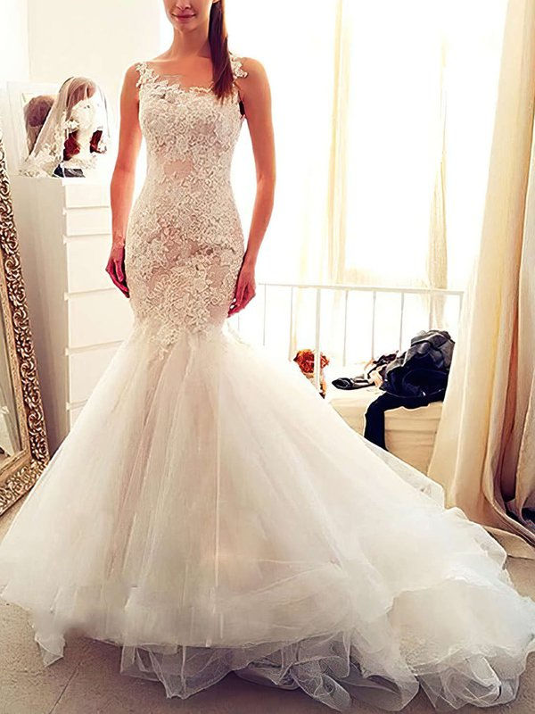 Elegant Tulle Ivory Casual Dresses for Bridal