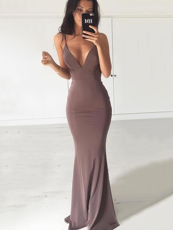 Sexy Mermaid Jersey Evening Dress