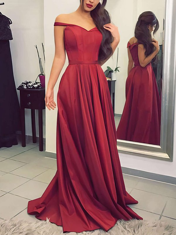 A-line Off-the-shoulder Pretty Dress for Prom