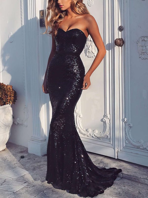 Mermaid Sweetheart Sequined Sparkly Formal Dresses
