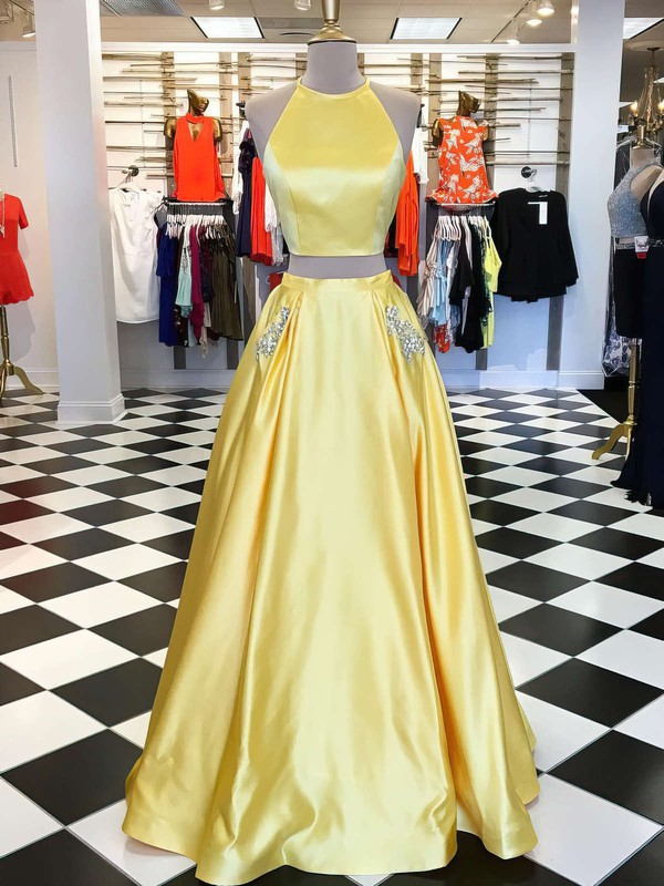 Two Piece Princess Daffodil Party Dresses