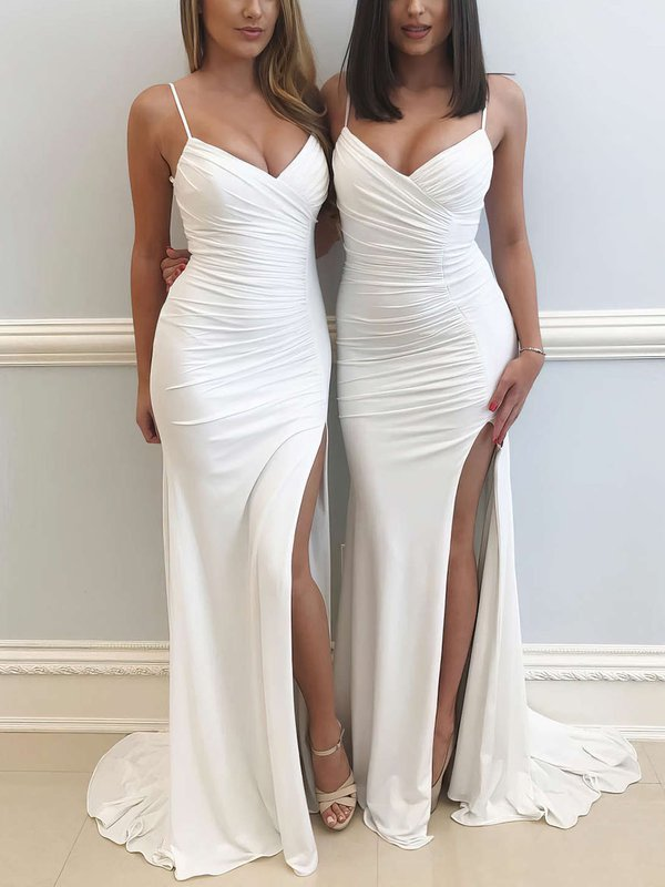 V-neck Jersey Super Simple Dresses for Prom