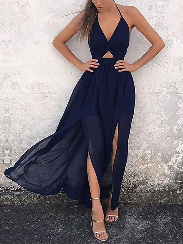 A-line Cheap Party Dresses with Slit