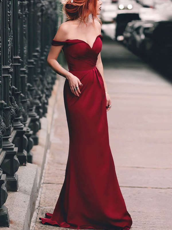 Sheath/Column  Off-the-shoulder Dresses for Prom