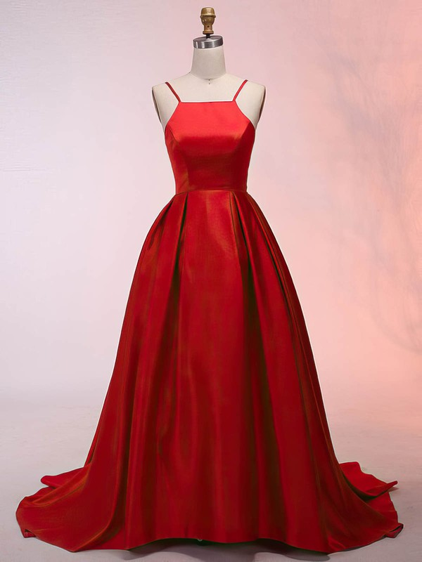 Vintage Asymmetrical Red Prom Dresses