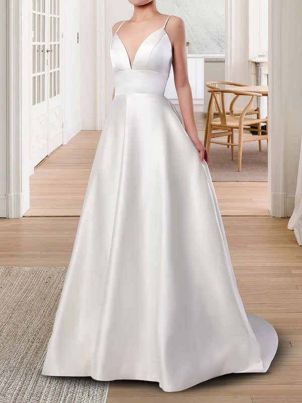 Princess Open Back Amazing Wedding Dresses with Pockets