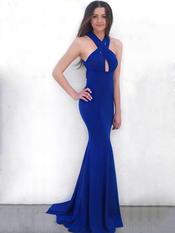 Mermaid V-neck Simple Evening Dresses