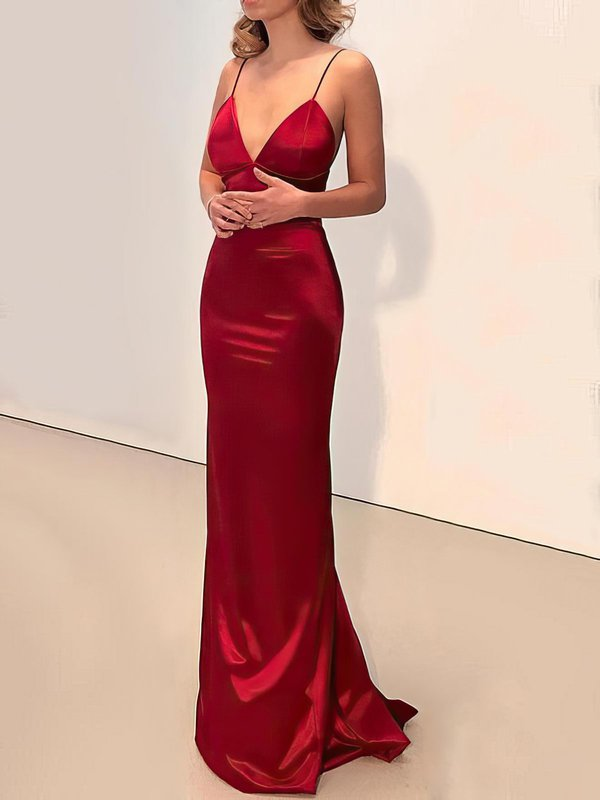 Sexy Sheath Red Formal Dress