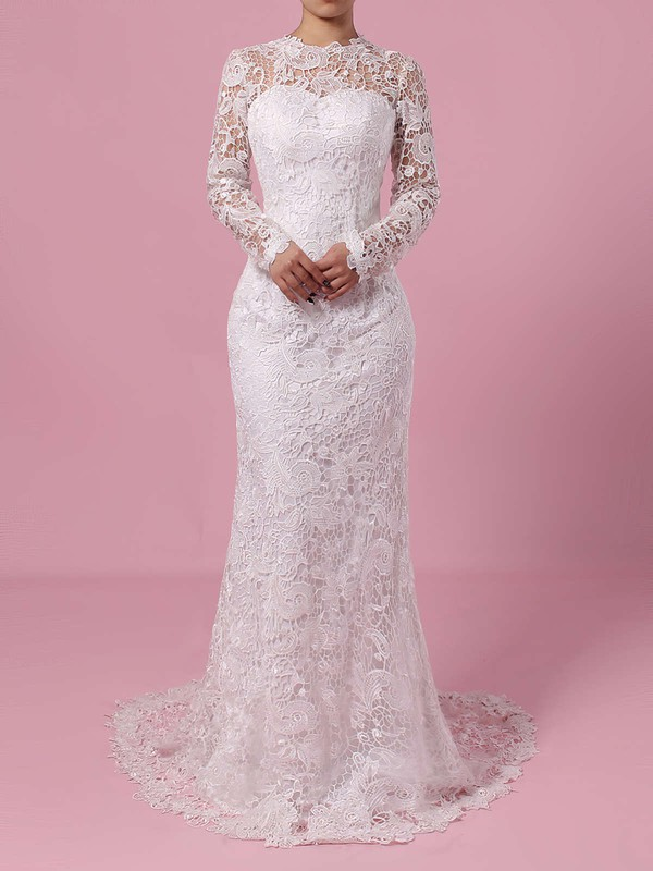 Elegant Lace Ivory Pretty Bridal Dresses