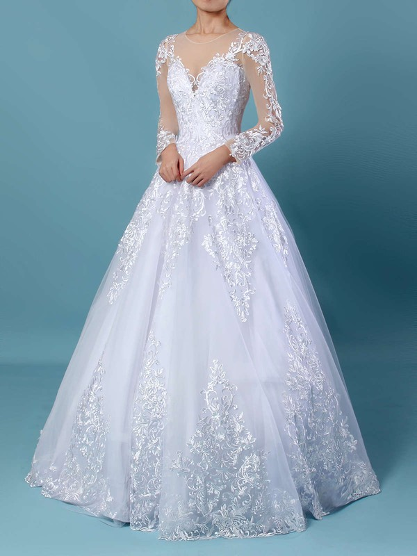 Elegant Tulle Ivory Affordable Dresses for Wedding