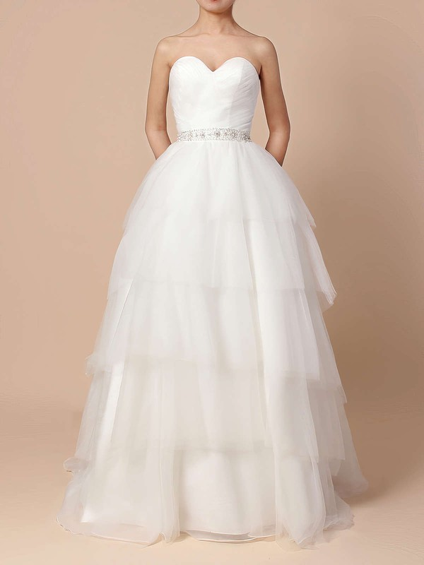 Sweetheart Ball Gown Tulle Amazing Dress for Bridal