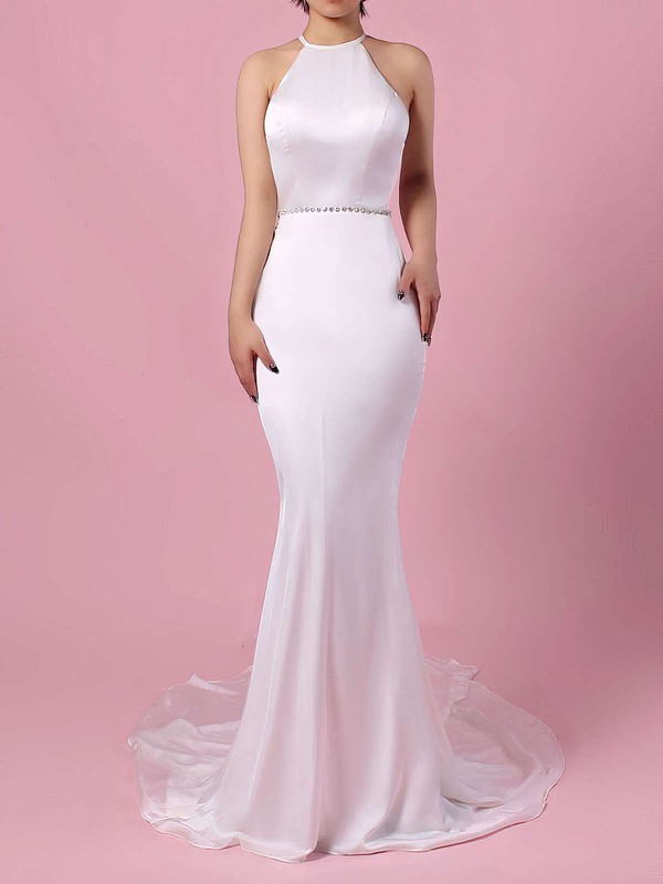 Mermaid Open Back Chiffon Gorgeous Bridal Dresses
