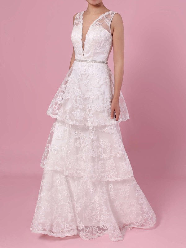 Elegant Lace Ivory New Wedding Gowns