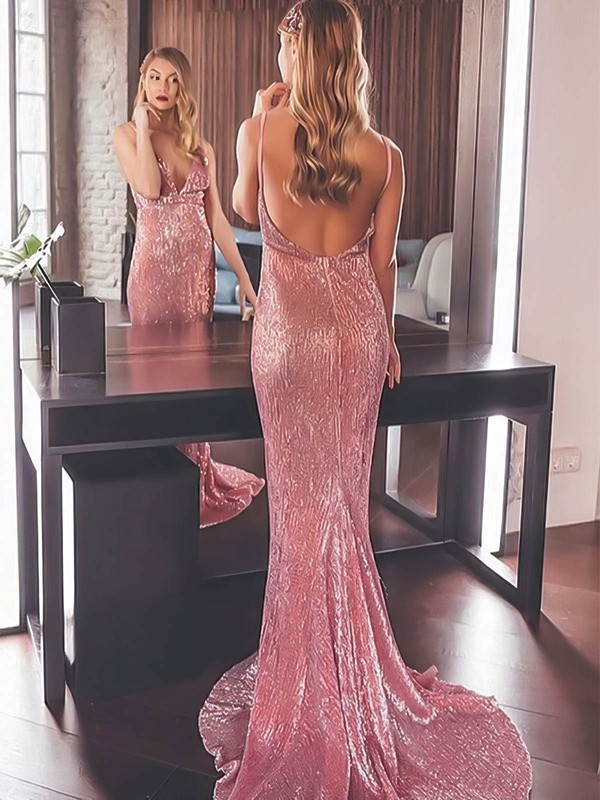 Long Sexy Open Back Evening Dresses