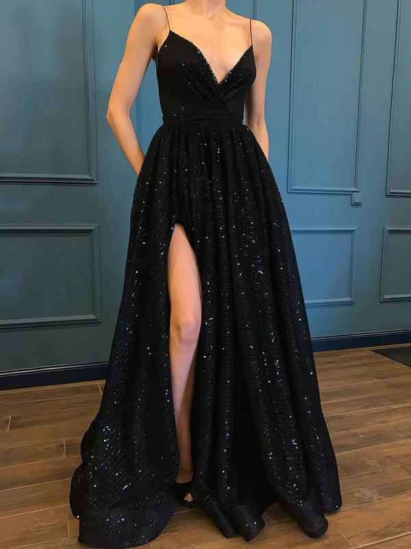 Elegant Ball Gown Glitter Prom Dress