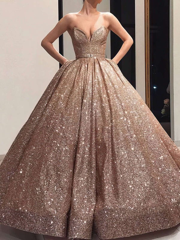 Ball Gown V-neck Types Of Evening Dresses