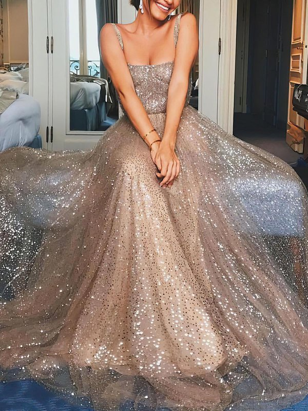 A-line Glitter Stunning Party Dresses