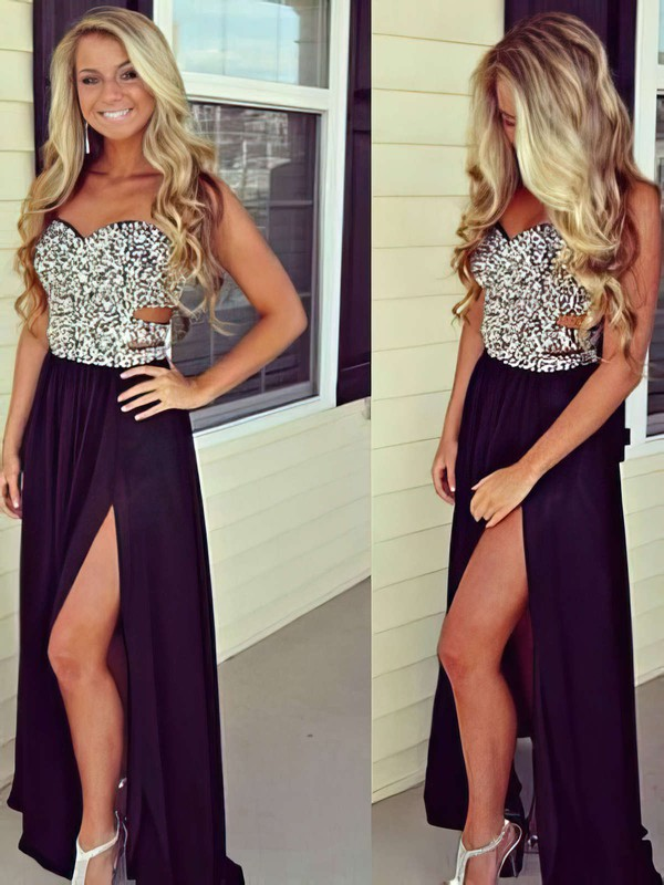 Sequins Chiffon A-line Party Dress