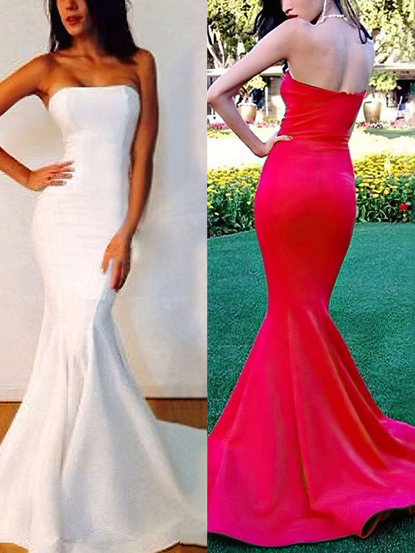 Mermaid Strapless Stretch Crepe Nice Dress for Prom